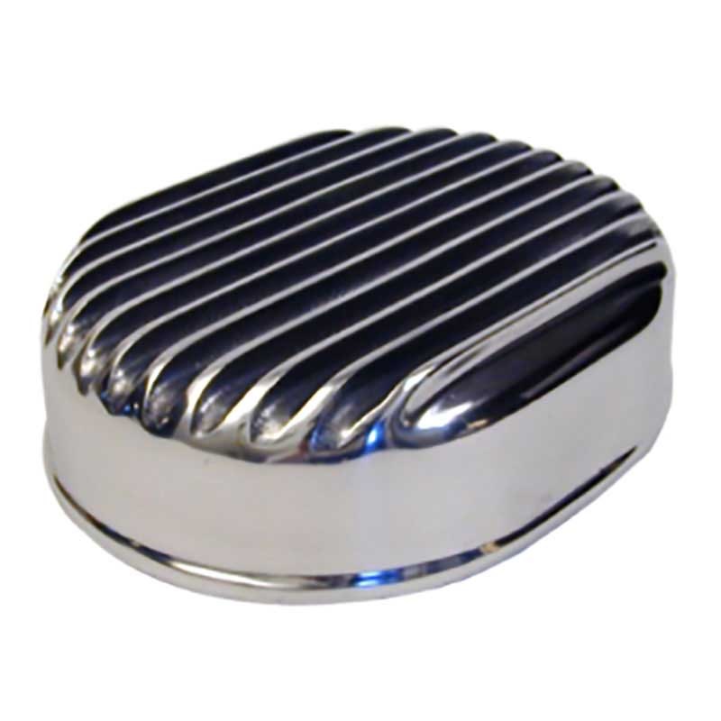 Custom Automotive Air Cleaners : Oval polished finned top air cleaner wirth s custom