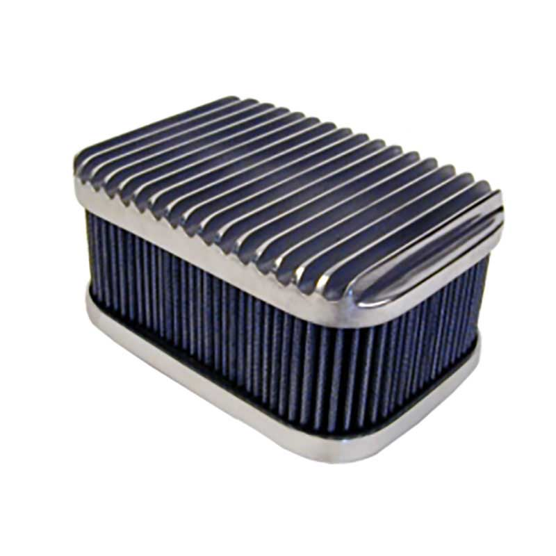 Rectangular Polished Finned Top Air Cleaner Wirth S