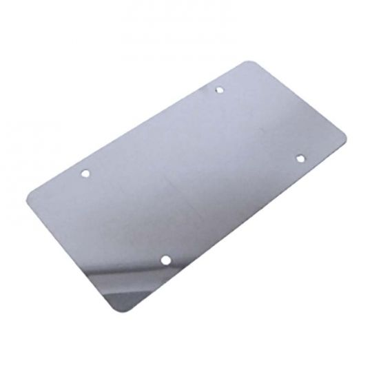 Smooth Polished Stainless Steel License Plate Backing Cover